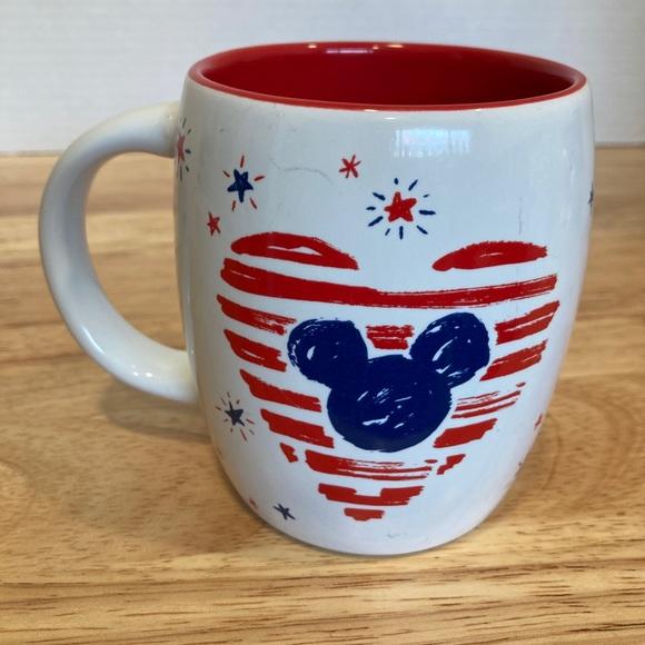 Disney parks Starbucks Mickey ears patriotic flag coffee mug cup red white blue